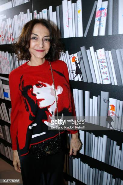 Nathalie Rykiel attends the Manifesto Sonia Rykiel 5Oth Birthday Party at the Flagship Store Boulevard Saint Germain des Pres on January 16 2018 in...