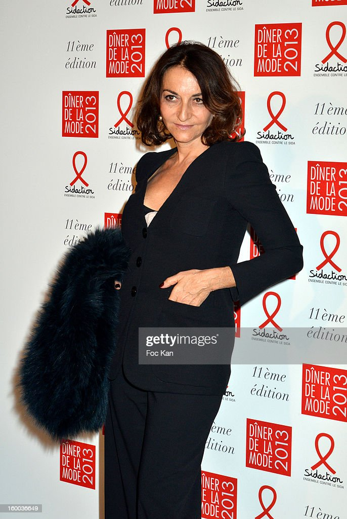 Nathalie Rykiel attends the Sidaction Gala Dinner 2013 at Pavillon d'Armenonville on January 24, 2013 in Paris, France.