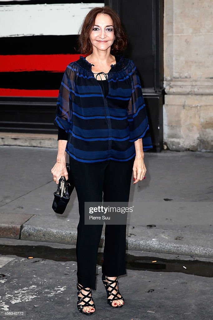 Nathalie Rykiel Attends the Sonia Rykiel show as part of the Paris Fashion Week Womenswear Spring/Summer 2015 on September 29, 2014 in Paris, France.