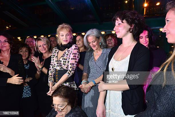 Nathalie Rykiel guest Sophie Davant Arielle Dombasle Tatiana de Rosnay Alice Zeniter and Carole Chretiennot attend La Closerie Ses Lilas Literary...