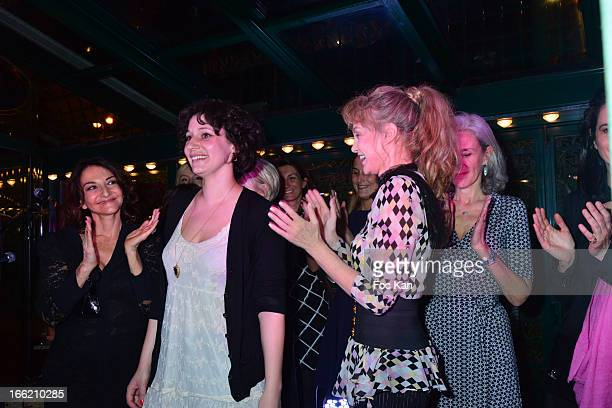 Nathalie Rykiel Lilas 2013 awarded Alice Zeniter for 'Sombre Dimanche' Arielle Dombasle and Tatiana de Rosnay attend La Closerie Des Lilas Literary...