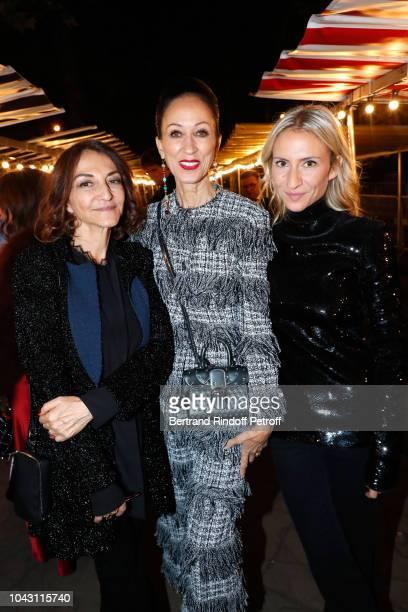 Nathalie Rykiel, Pat Cleveland and Lola Burstein-Rykiel attend the Sonia Rykiel show as part of the Paris Fashion Week Womenswear Spring/Summer 2019...