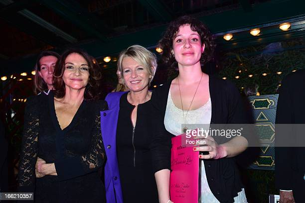 Nathalie Rykiel Sophie Davant and Alice Zeniter attend La Closerie Des Lilas Literary Awards 2013 6th Edition At La Closerie Des Lilas on April 9...