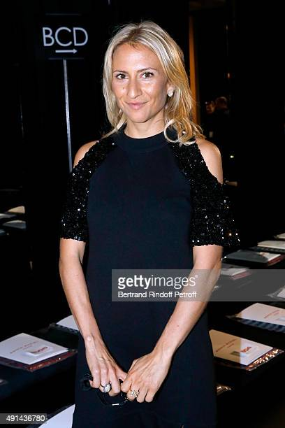Nathalie Rykiel's daughter Lola Burstein attends the Sonia Rykiel show as part of the Paris Fashion Week Womenswear Spring/Summer 2016 on October 5,...