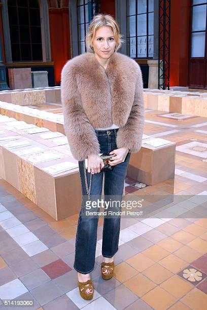 Nathalie Rykiel's daughter Lola Burstein attends the Sonia Rykiel show as part of the Paris Fashion Week Womenswear Fall/Winter 2016/2017 on March 7...