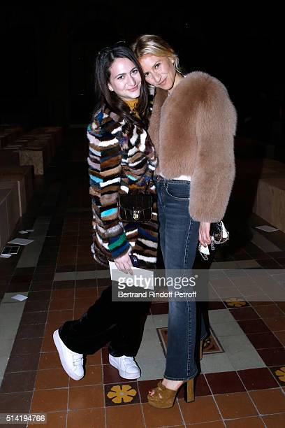 Nathalie Rykiel's daughters Salome Burstein and her sister Lola Burstein attend the Sonia Rykiel show as part of the Paris Fashion Week Womenswear...
