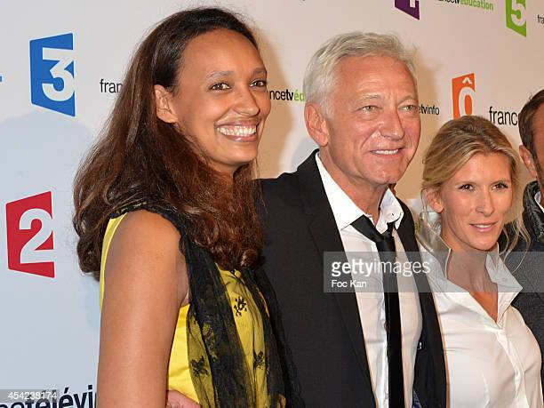 Nathalie Schraen Guirma Laurent Boyer and Helene Gateau attend the 'Rentree de France Televisions' at Palais De Tokyo on August 26 2014 in Paris...