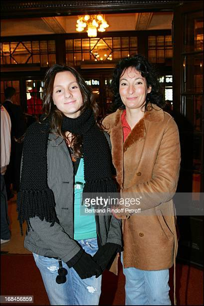 Nathalie Serrault and daughter Gwendoline at Arturo Brachetti Performs At Theatre Mogador .