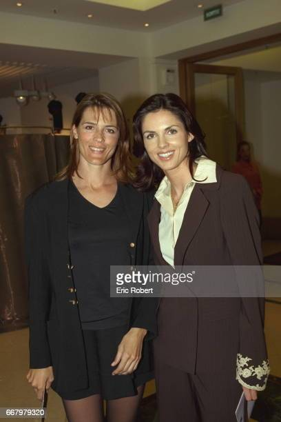 Nathalie Simon and Caroline Barclay during the opening the store's new beauty department