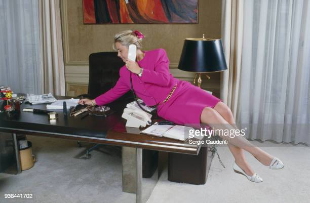 Nathalie Tapie at home 1st June 1986
