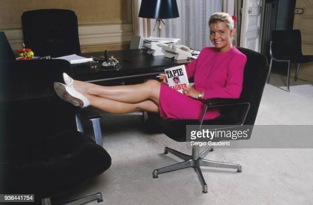 Nathalie Tapie at home 1st June 1986