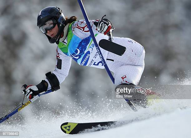 Nathalie Tyack of France competes in the Women's Standing Slalom during Day 4 of the 2010 Vancouver Winter Paralympics at Whistler Creekside on March...