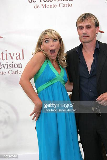 Nathalie Vincent and Robert Knepper during 2007 Monte Carlo Television Festival Nathalie Vincent Photocall at Grimaldi Forum in Monte Carlo Monaco