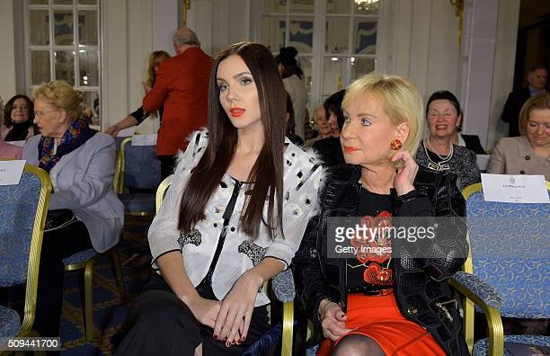 Nathalie Volk and Dagmar Berghoff attend Liz Malraux Fashion Show at Hotel Atlantic on February 10 2016 in Hamburg Germany