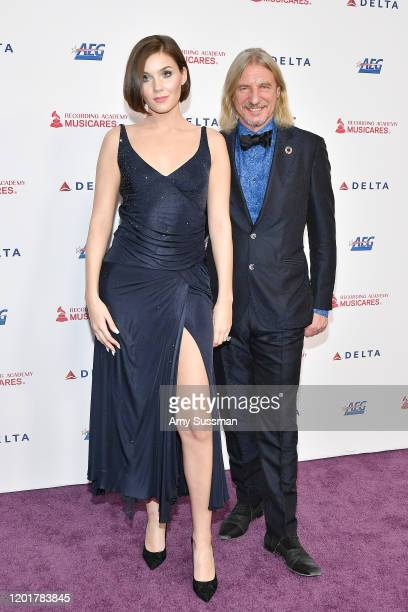 Nathalie Volk and Frank Otto attend MusiCares Person of the Year honoring Aerosmith at West Hall at Los Angeles Convention Center on January 24 2020...