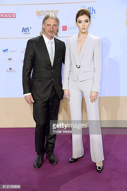 Nathalie Volk and her boyfriend Frank Otto attend the Deutscher Radiopreis 2016 on October 6 2016 in Hamburg Germany