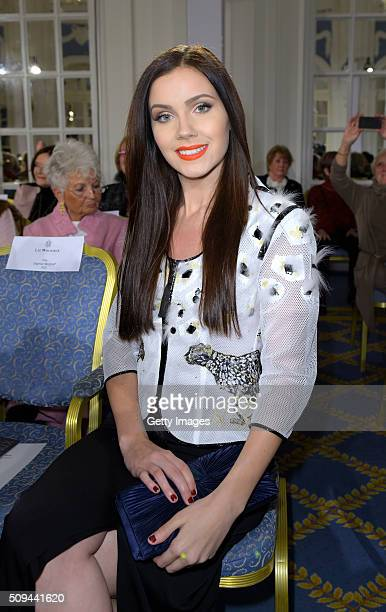 Nathalie Volk attends Liz Malraux Fashion Show at Hotel Atlantic on February 10 2016 in Hamburg Germany