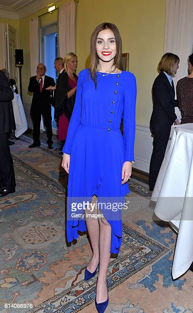 Nathalie Volk attends the 'Heldenherz Kinderschutzpreis' at Hotel Louis C Jacob on October 11 2016 in Hamburg Germany