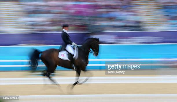 Nathalie Zu Sayn Wittgenstein of Denmark riding Digby competes in the Dressage Grand Prix on Day 7 of the London 2012 Olympic Games at Greenwich Park...