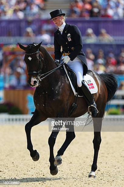 Nathalie Zu Sayn Wittgenstein of Denmark riding Digby competes in the Individual Dressage on Day 13 of the London 2012 Olympic Games at Greenwich...