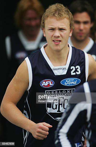 Nathan Ablett of the Cats in action during the Geelong Cats training session at Skilled Stadium on August 26, 2005 in Melbourne, Australia.