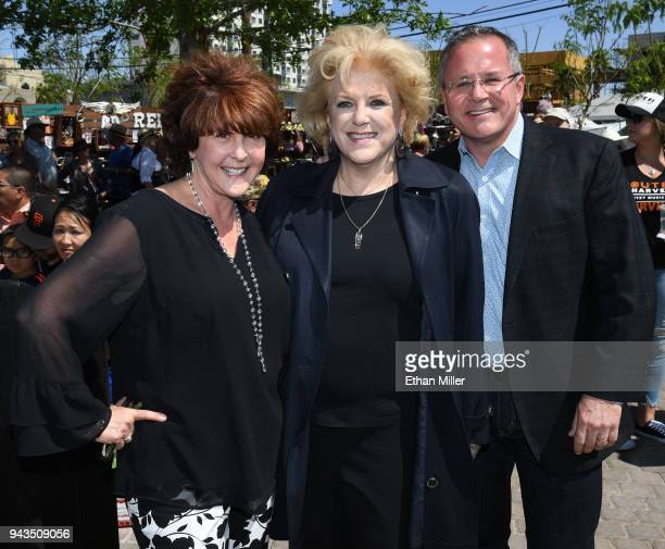 Nathan Adelson Hospice President and CEO Carole Fisher Las Vegas Mayor Carolyn Goodman and Academy of Country Music CEO Pete Fisher attend the Nathan...