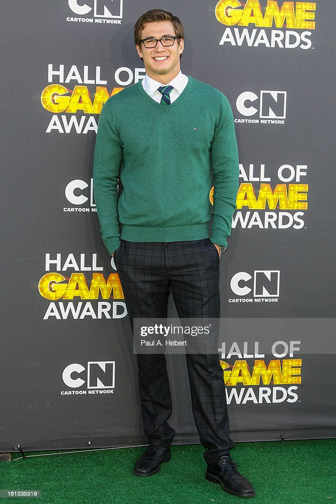 Nathan Adrian arrives at the 3rd Annual Cartoon Network's 'Hall Of Game' Awards held at Barker Hangar on February 9, 2013 in Santa Monica, California.