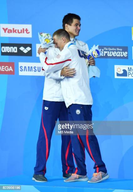 Nathan Adrian Caeleb Remel Dressel during the Budapest 2017 FINA World Championships on July 27 2017 in Budapest Hungary