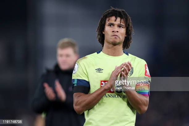 Nathan Ake of AFC Bournemouth acknowledges the fans after the Premier League match between Crystal Palace and AFC Bournemouth at Selhurst Park on...