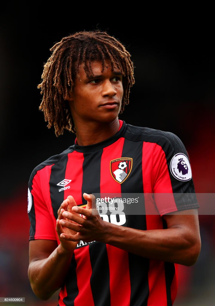 Nathan Ake of AFC Bournemouth applauds a team-mate off the pitch during the pre-season friendly match between AFC Bournemouth and Valencia CF at Vitality Stadium on July 30, 2017 in Bournemouth, England.