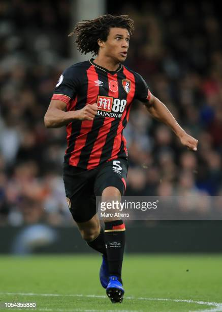 Nathan Ake of AFC Bournemouth during the Premier League match between Fulham FC and AFC Bournemouth at Craven Cottage on October 27 2018 in London...