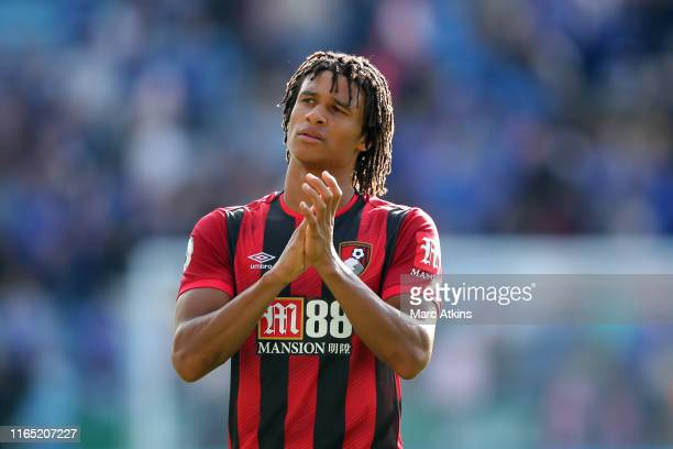 Nathan Ake of AFC Bournemouth during the Premier League match between Leicester City and AFC Bournemouth at The King Power Stadium on August 31, 2019...