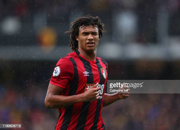 Nathan Ake of AFC Bournemouth during the Premier League match between Watford FC and AFC Bournemouth at Vicarage Road on October 26 2019 in Watford...