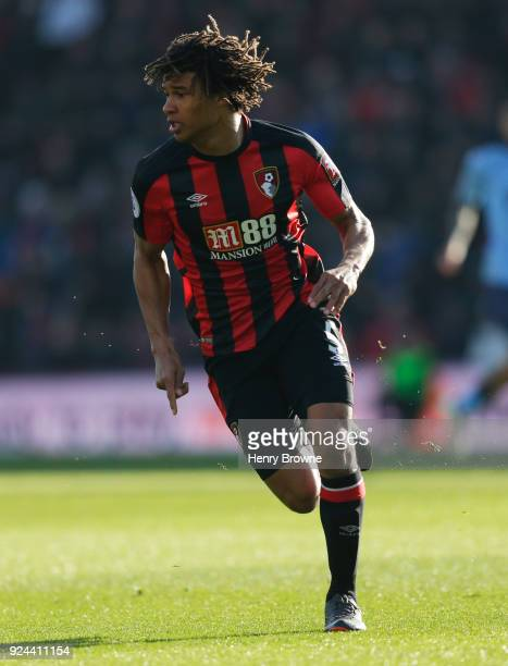 Nathan Ake of AFC Bournemouth during the Premier League match between AFC Bournemouth and Newcastle United at Vitality Stadium on February 24 2018 in...