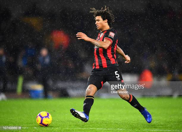 Nathan Ake of AFC Bournemouth in action during the Premier League match between Wolverhampton Wanderers and AFC Bournemouth at Molineux on December...
