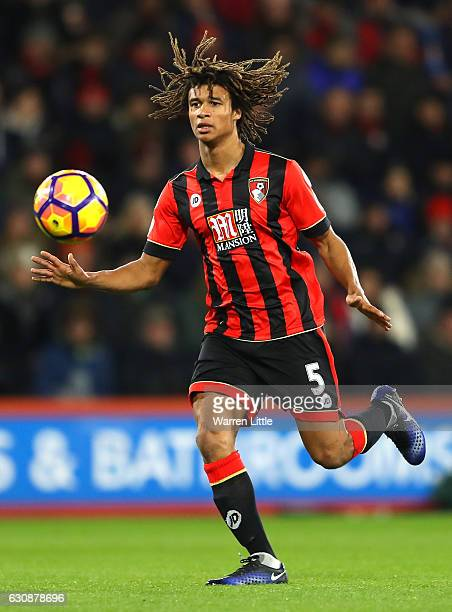 Nathan Ake of AFC Bournemouth in action during the Premier League match between AFC Bournemouth and Arsenal at Vitality Stadium on January 3 2017 in...