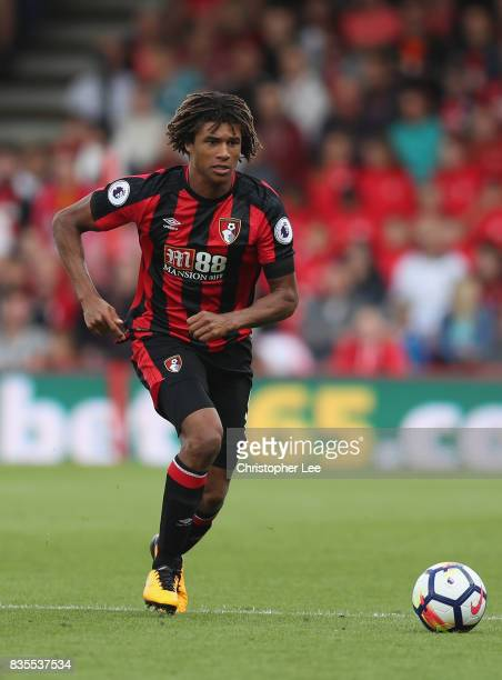 Nathan Ake of AFC Bournemouth in action during the Premier League match between AFC Bournemouth and Watford at Vitality Stadium on August 19 2017 in...