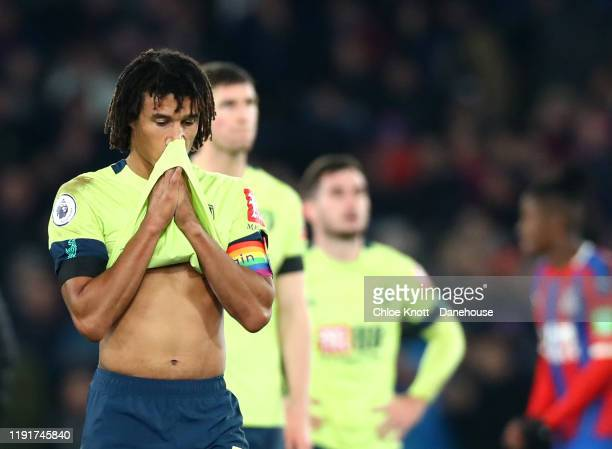 Nathan Ake of AFC Bournemouth reacts after loosing the Premier League match between Crystal Palace and AFC Bournemouth at Selhurst Park on December...