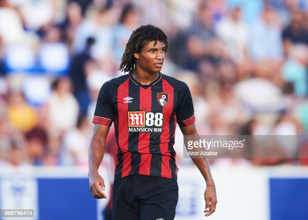 Nathan Ake of AFC Bournemouth reacts during Pre Season friendly Match between Sevilla FC and AFC Bournemouth at La Manga Club on July 14 2018 in...