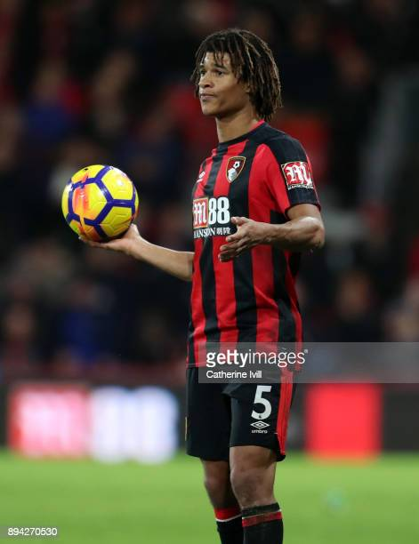 Nathan Ake of AFC Bournemouthduring the Premier League match between AFC Bournemouth and Liverpool at Vitality Stadium on December 17 2017 in...