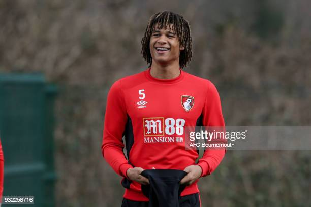 Nathan Ake of Bournemouth during an AFC Bournemouth training session at Vitality Stadium on March 14 2018 in Bournemouth England