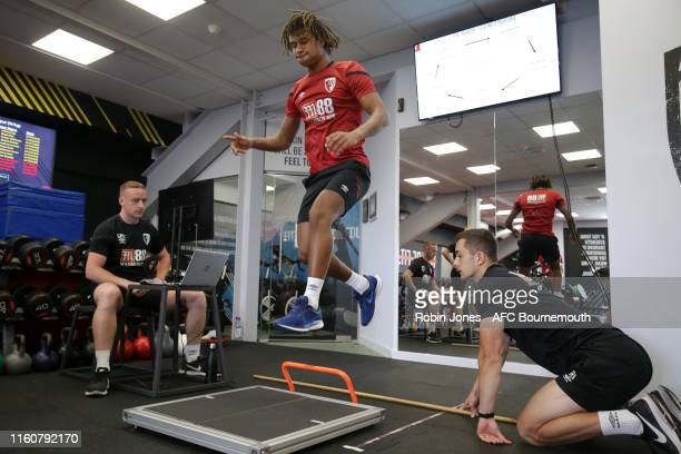 Nathan Ake of Bournemouth during pre-season gym tests at Vitality Stadium on July 08, 2019 in Bournemouth, England.