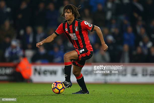 Nathan Ake of Bournemouth during the Premier League match between AFC Bournemouth and Leicester City at Vitality Stadium on December 13 2016 in...