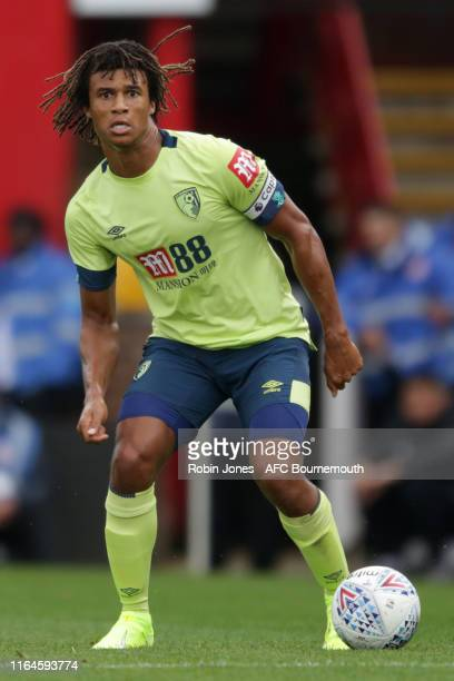 Nathan Ake of Bournemouth during the Pre-Season Friendly match between Brentford and AFC Bournemouth at Griffin Park on July 27, 2019 in Brentford,...