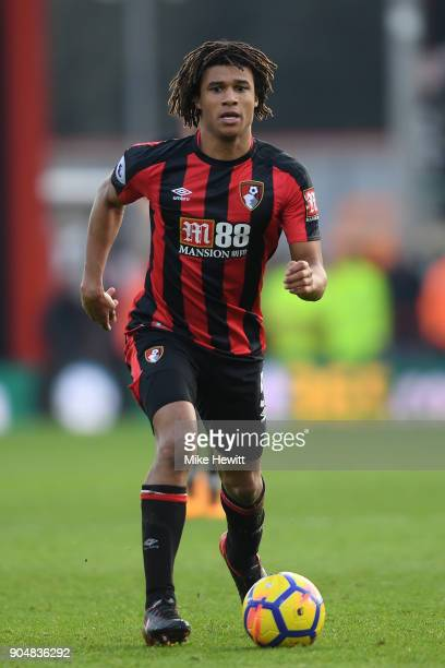 Nathan Ake of Bournemouth in action during the Premier League match between AFC Bournemouth and Arsenal at Vitality Stadium on January 14 2018 in...