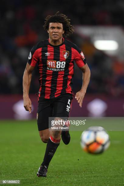 Nathan Ake of Bournemouth in action during the The Emirates FA Cup Third Round match between AFC Bournemouth and Wigan Athletic at Vitality Stadium...