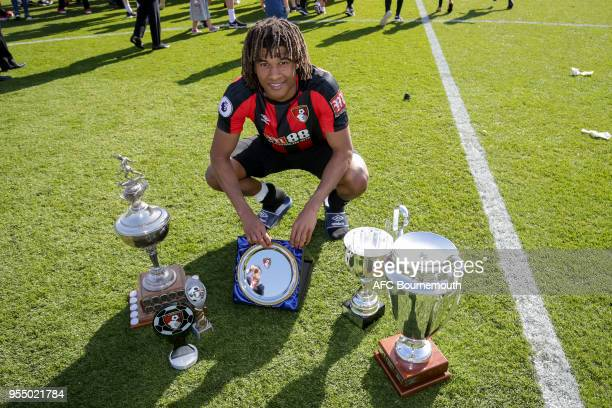 Nathan Ake of Bournemouth who won the all of the club/fan awards after the Premier League match between AFC Bournemouth and Swansea City at Vitality...