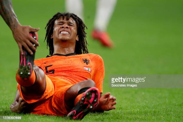 Nathan Ake of Holland during the UEFA Nations league match between Holland v Italy on September 7, 2020