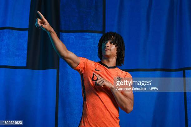 Nathan Ake of the Netherlands poses during the official UEFA Euro 2020 media access day on June 07, 2021 in Zeist, Netherlands.
