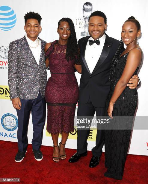 Nathan Anderson Alvina Stewart actor Anthony Anderson and Kyra Anderson attend the 48th NAACP Image Awards at Pasadena Civic Auditorium on February...
